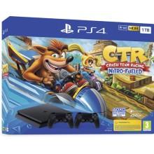 Konzola PlayStation 4 1TB+ PS4 DualShock Crni + Crash TR